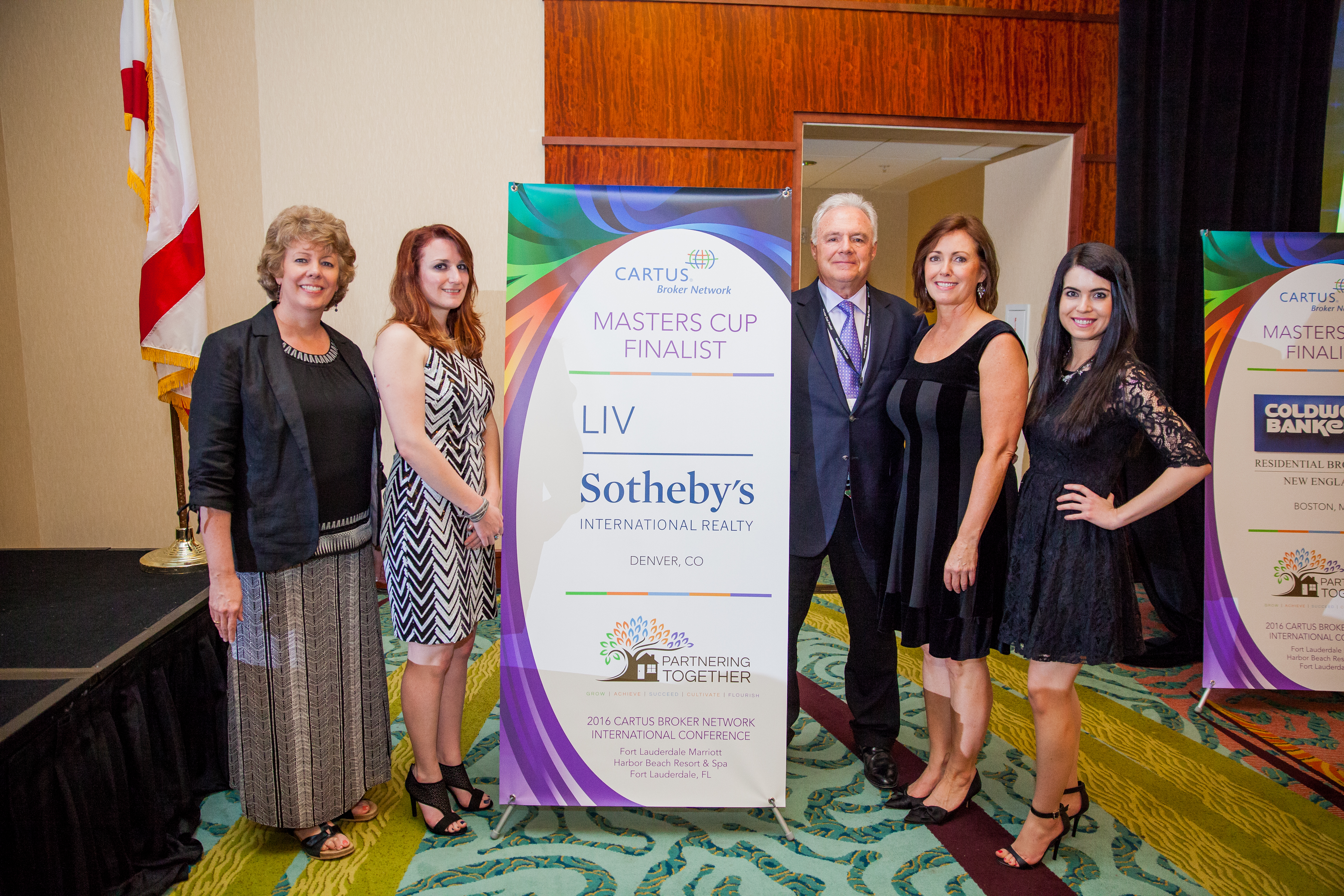 Pictured: LIV Sotheby's International Realty Relocation team, and President, Scott Webber.