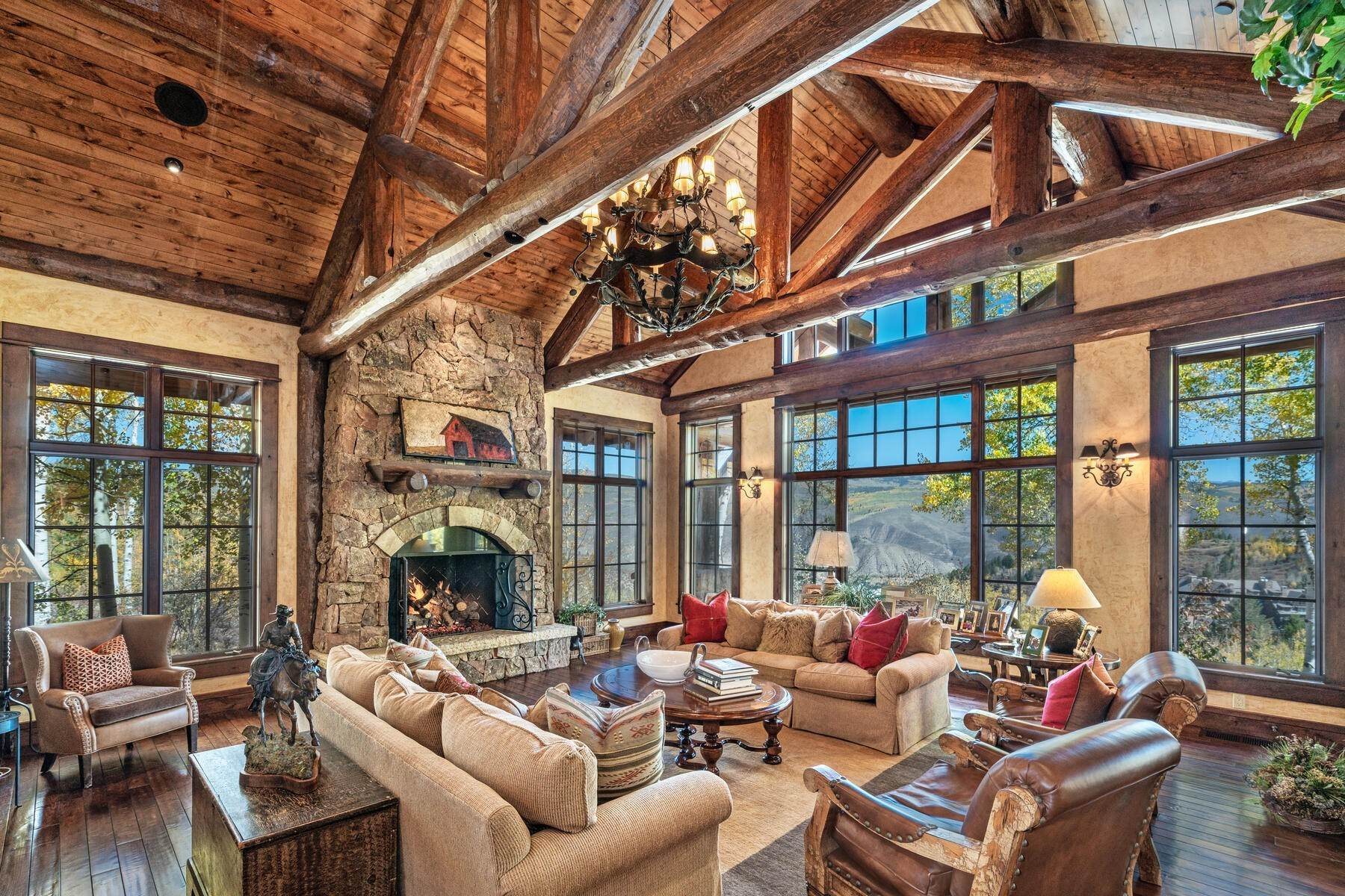 12. Single Family Homes for Active at Ski-in, ski-out residence with panoramic views 602 Bachelor Ridge Road Beaver Creek, Colorado 81620 United States
