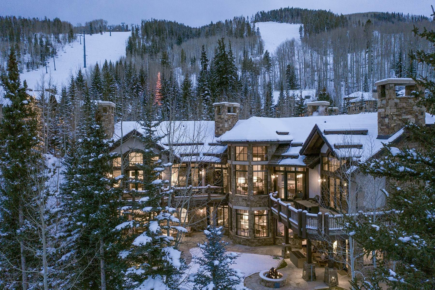 Single Family Homes for Active at Coveted Ski-In/Ski-Out in Vail 615 Forest Place Vail, Colorado 81657 United States