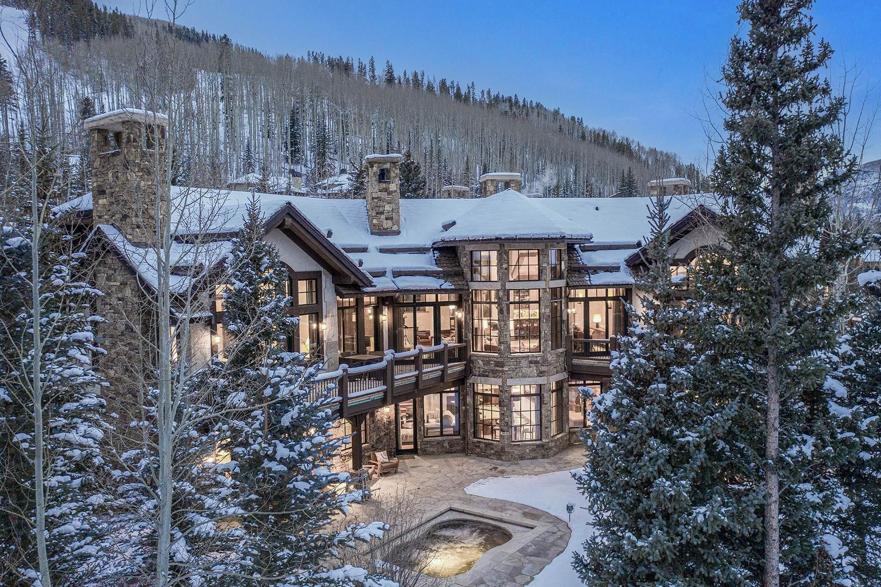45. Single Family Homes for Active at Coveted Ski-In/Ski-Out in Vail 615 Forest Place Vail, Colorado 81657 United States