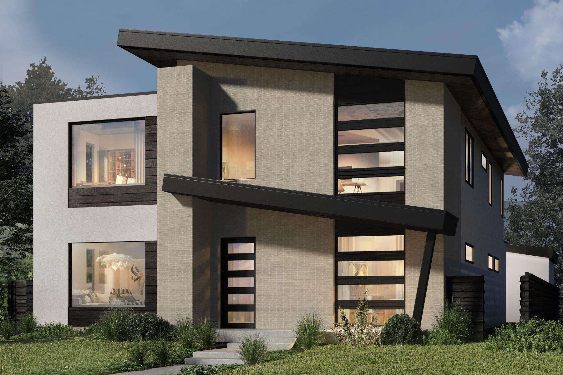 Single Family Homes for Active at Stunning, Unique New Build Designed for Maximum Natural Light 1195 S Monroe Street Denver, Colorado 80210 United States