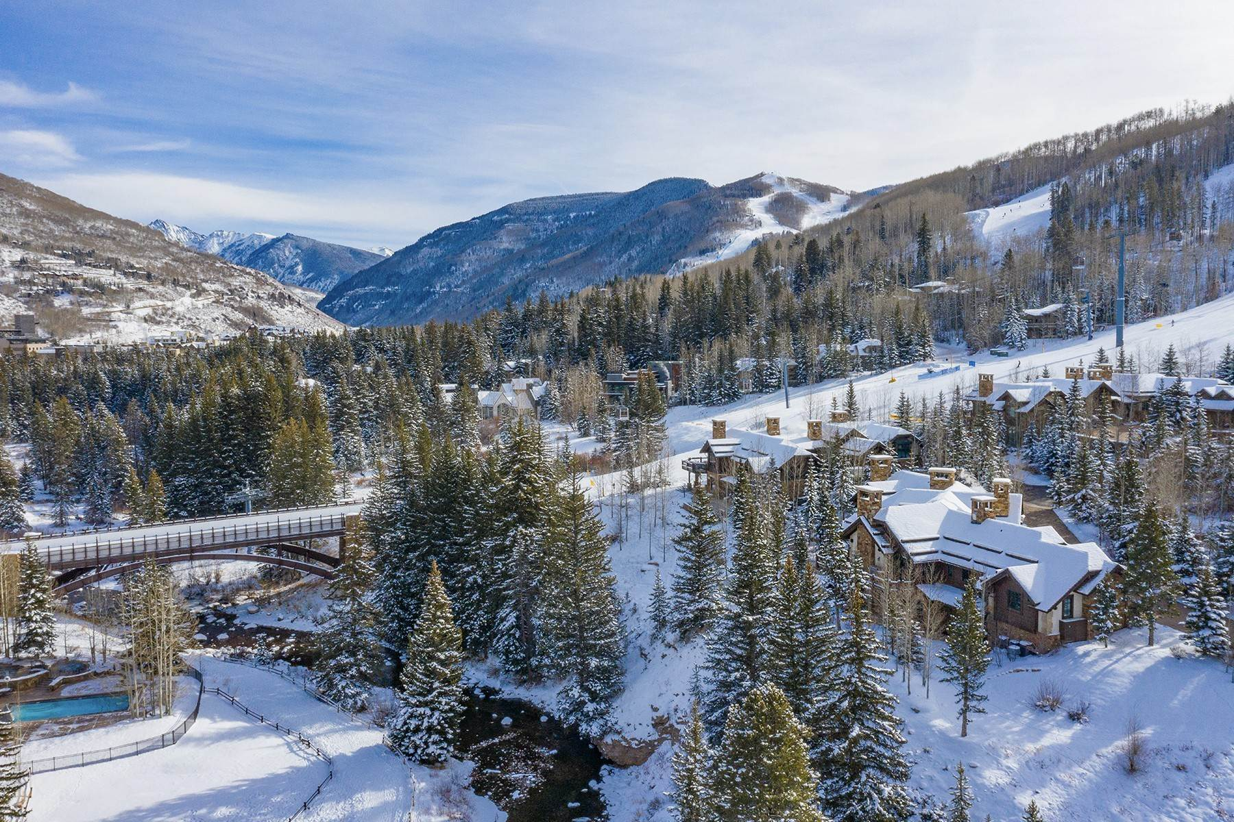43. Single Family Homes for Active at Coveted Ski-In/Ski-Out in Vail 615 Forest Place Vail, Colorado 81657 United States