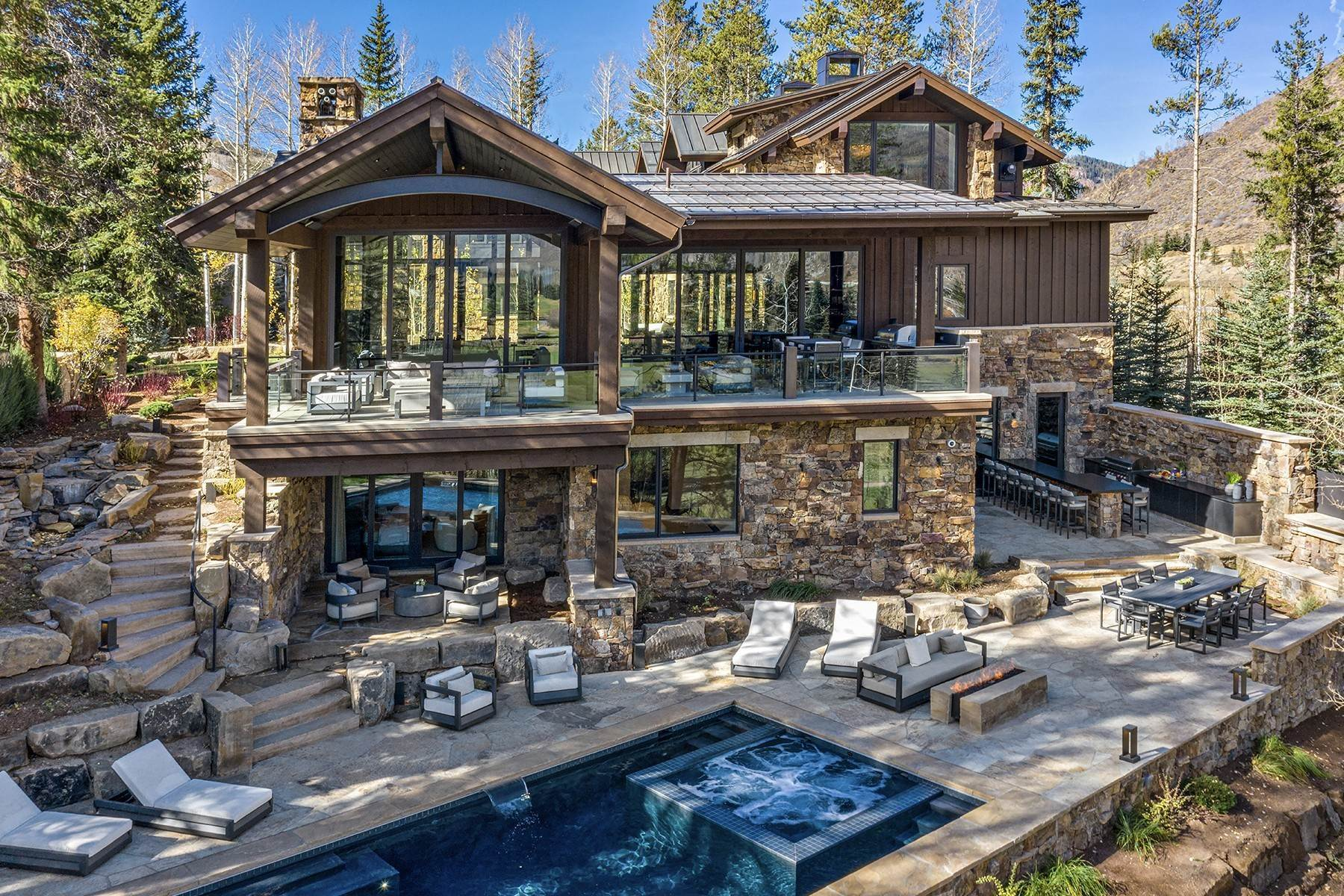 36. Single Family Homes for Active at Legendary Mountain Living 1183 Cabin Circle Vail, Colorado 81657 United States