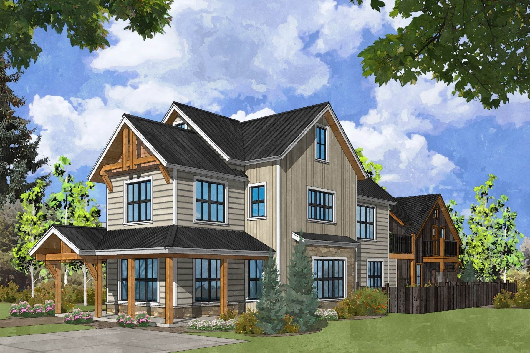 Single Family Homes for Active at Outstanding New Five-Bedroom Home in Crested Butte 729 Whiterock Avenue Crested Butte, Colorado 81224 United States