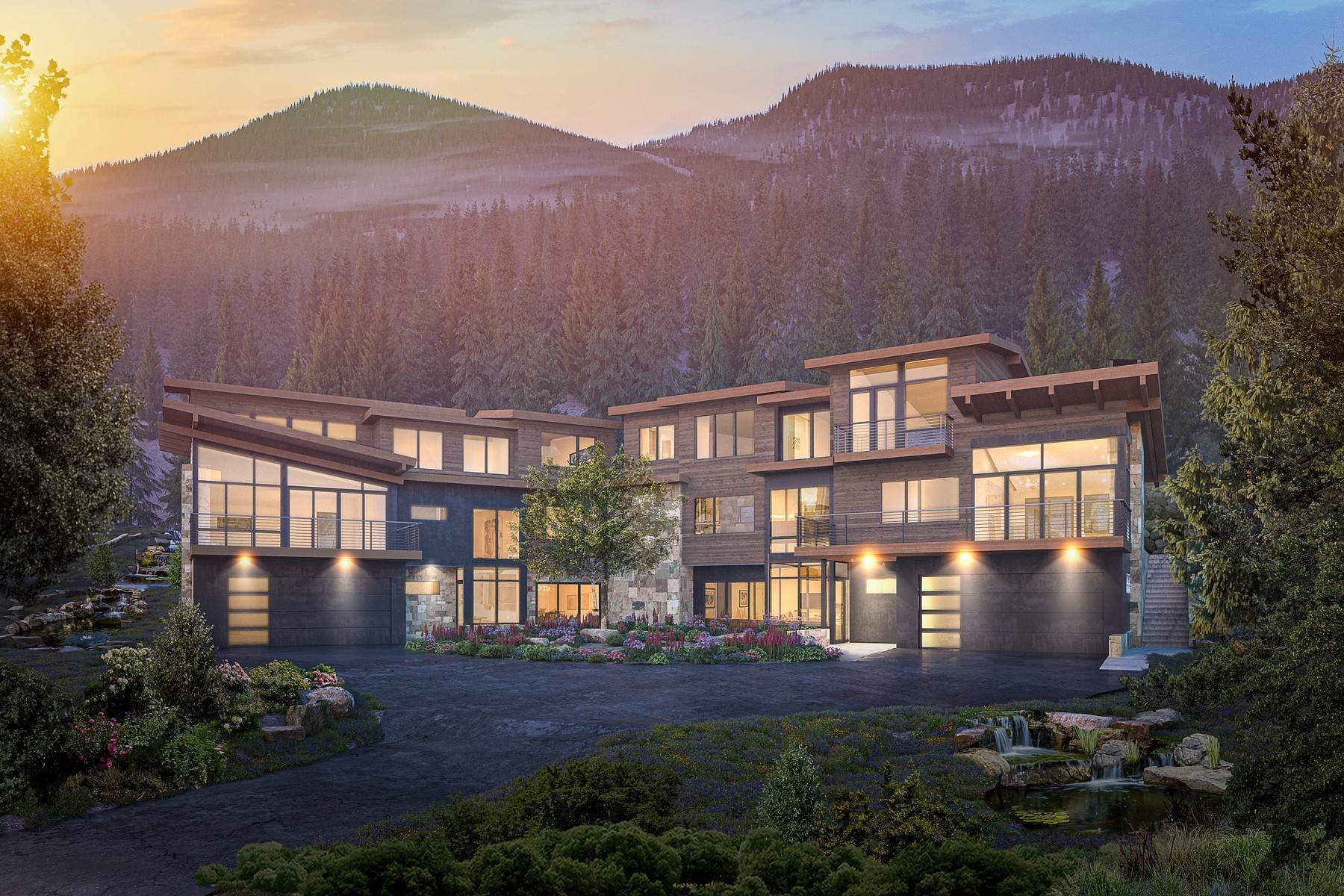 Duplex Homes for Active at New Construction with Striking Architecture 5002 North Snowshoe Lane Vail, Colorado 81657 United States