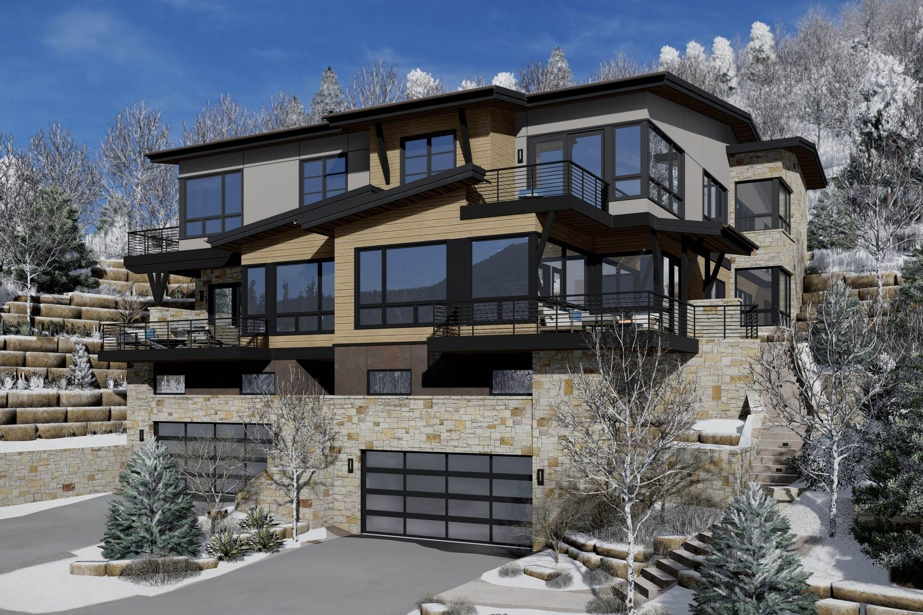 Duplex Homes for Active at New construction mountain modern residence 2699 Davos Trail #East Vail, Colorado 81657 United States