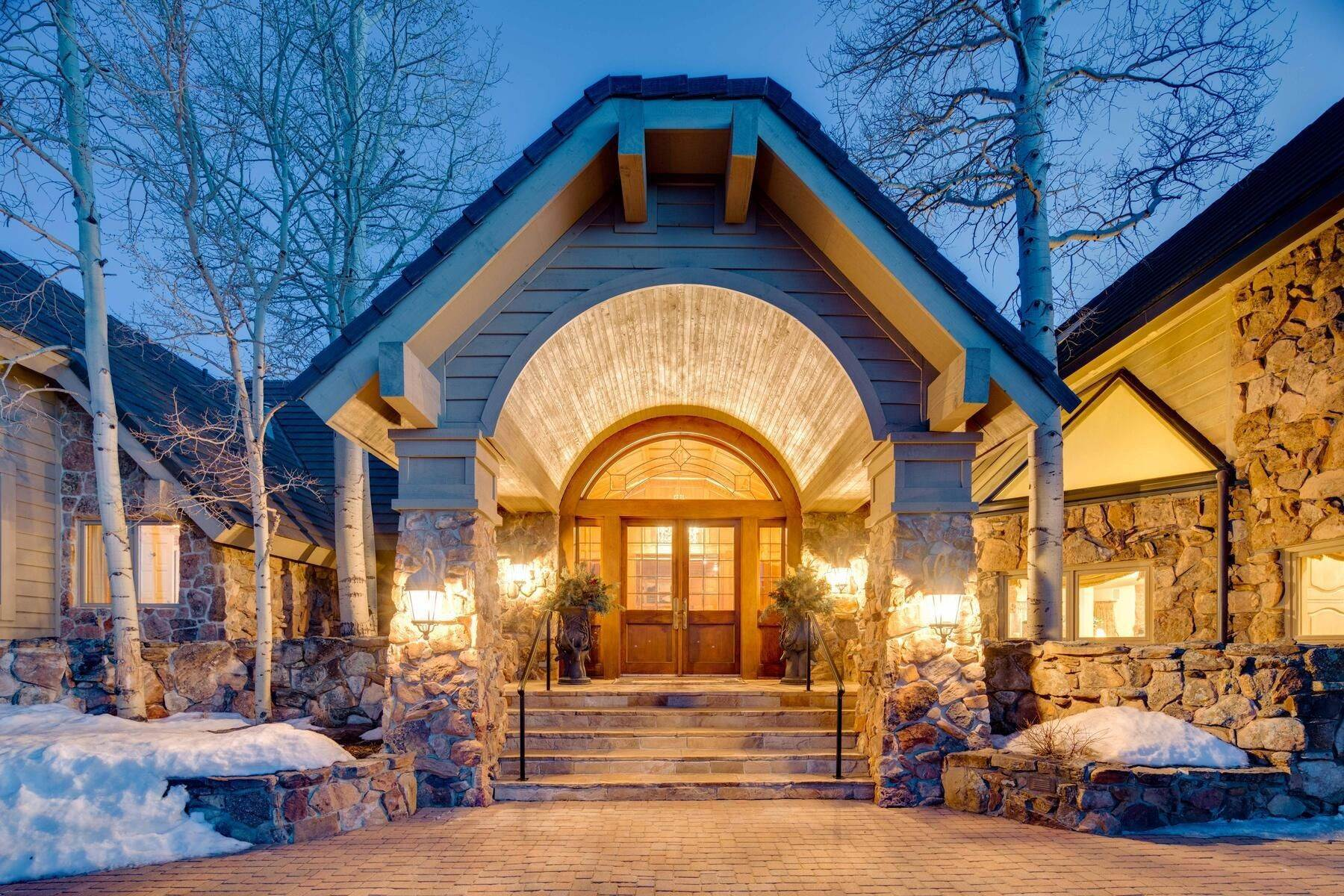 Single Family Homes for Active at Exquisite Architectural Masterpiece on 14 Idyllic Private Acres 1275 Silver Tip Lane Evergreen, Colorado 80439 United States