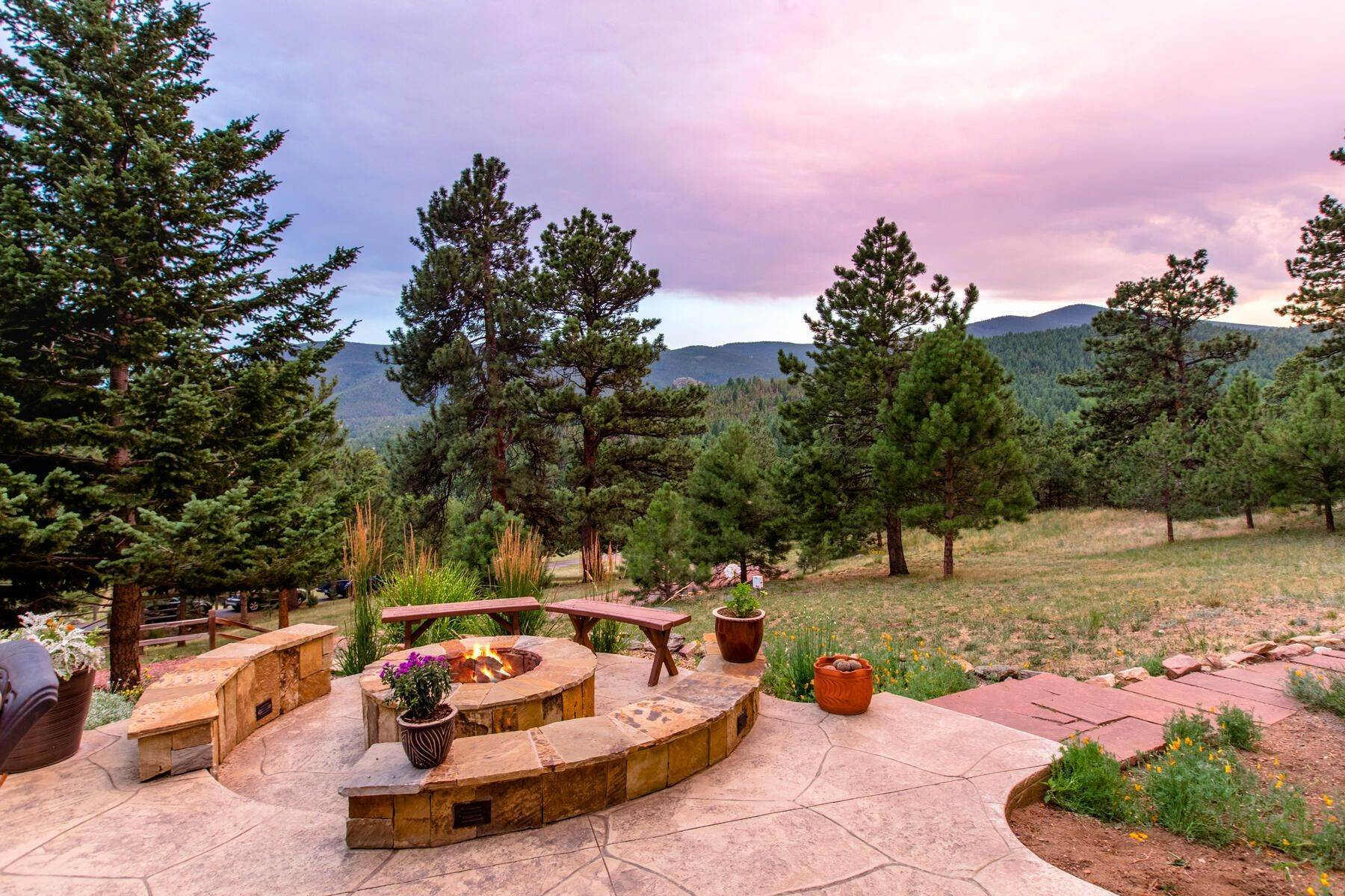 44. Single Family Homes for Active at Luxury Mountain Home with Endless Mountain Views & Ample Outdoor Living Spaces 34814 West Meadow Road Evergreen, Colorado 80439 United States
