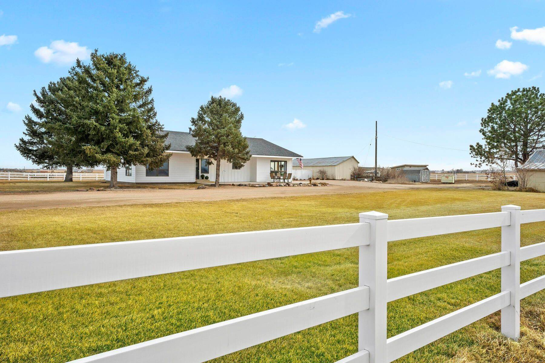3. Single Family Homes for Active at Colorado Farmhouse of Your Dreams Nestled on Just Over Two Acres 15614 County Road 42 La Salle, Colorado 80645 United States