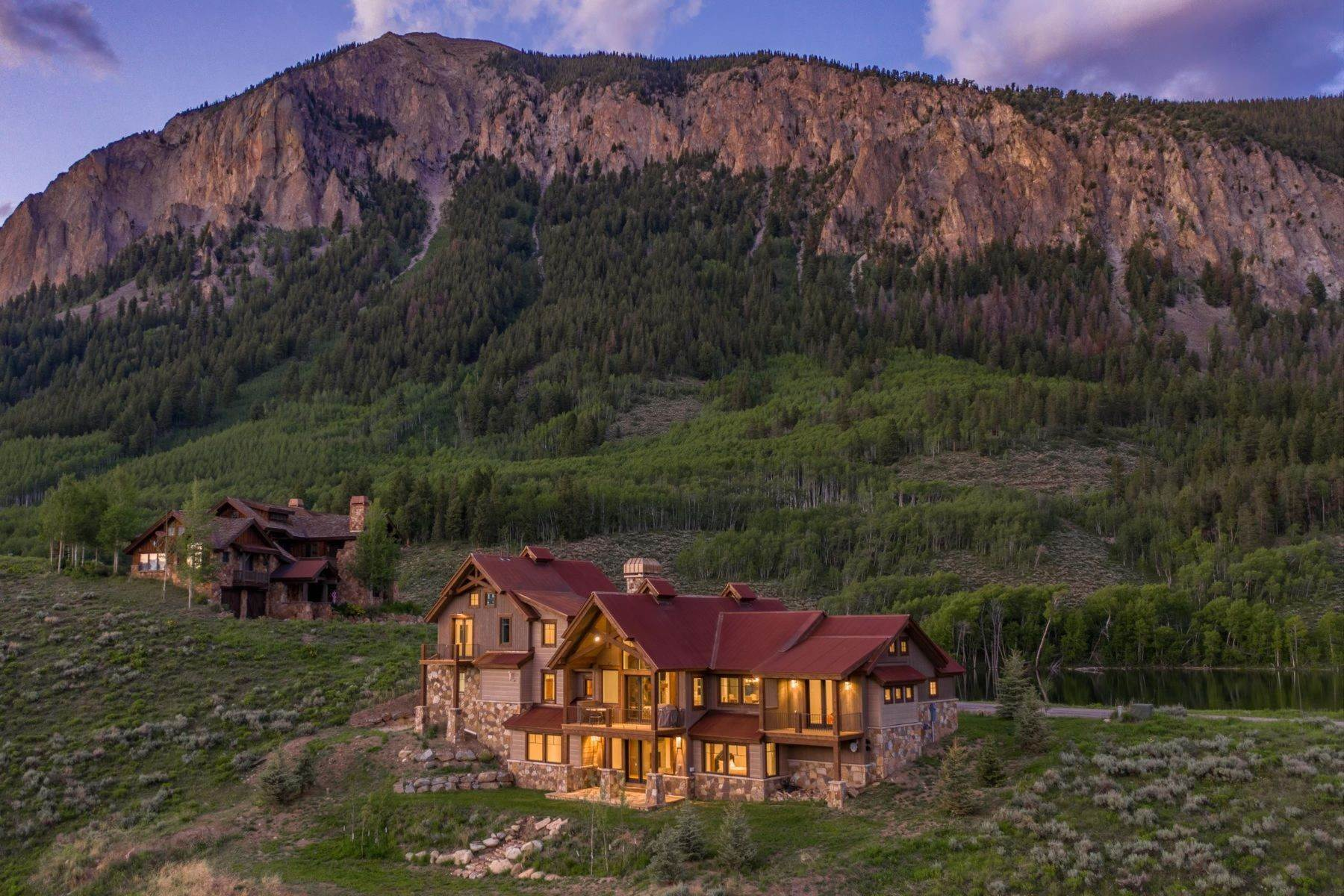 Single Family Homes for Active at Lake views. Mountain views. Golf views. 1025 Skyland Drive Crested Butte, Colorado 81224 United States