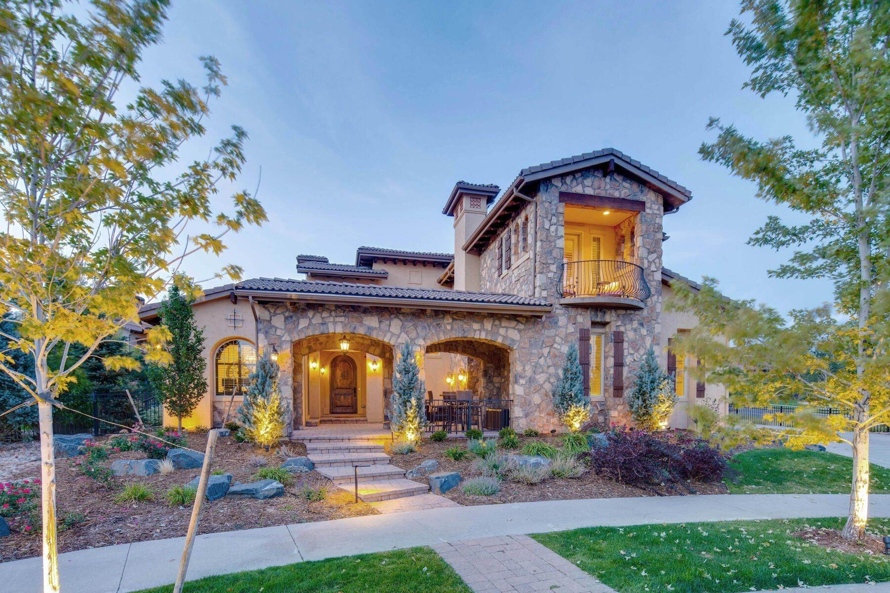Single Family Homes for Active at This Stunning Custom Estate is Inspired by the Beauty of an Italian Villa! 15227 W Warren Drive Lakewood, Colorado 80228 United States