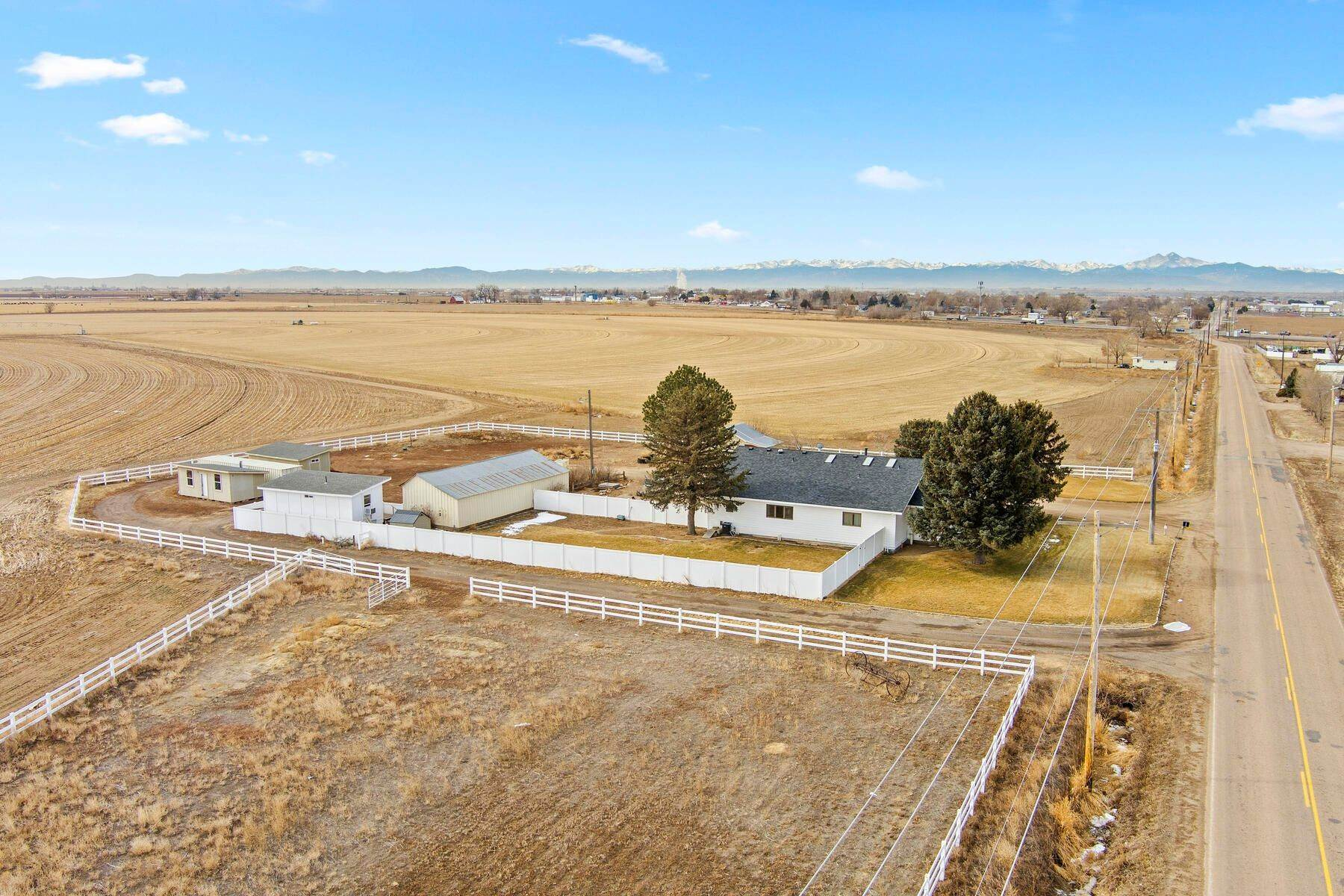 2. Single Family Homes for Active at Colorado Farmhouse of Your Dreams Nestled on Just Over Two Acres 15614 County Road 42 La Salle, Colorado 80645 United States