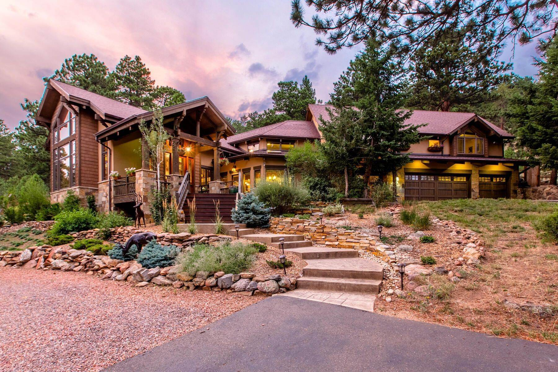 2. Single Family Homes for Active at Luxury Mountain Home with Endless Mountain Views & Ample Outdoor Living Spaces 34814 West Meadow Road Evergreen, Colorado 80439 United States